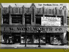 """F. W. Woolworth Co, """"The Five and Dime Store,"""" The Bronx, New York ``. I had one right on westchester sq. and if you were standing in front of it, you could see the old b browns jewelers and jacks diner. Which are gone as well."""