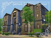 It is time for our Sims 4 have a quality school or college to study! The lot is … - SCHOOL ROOM The Sims 4 Lots, Workout Rooms, College, Study, Mansions, House Styles, University, Studio, Investigations