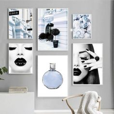 Wall Art Canvas Painting Paris Fashion Street Flower Modern Girl Nordic Posters And Prints Wall Pictures For Living Room Decor