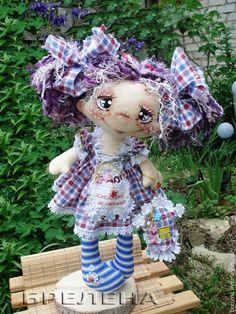 Купить Кукла домовушка-желанница Фиалочка. - текстильная кукла, купить куклу, кукла в подарок