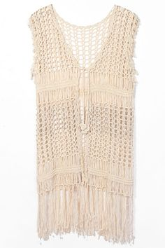 crochet vest with fringe *** wholesale
