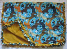 Cozy Horse fleece tie blanket/baby by BriersBlankets on Etsy