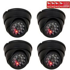 Buy VideoSecu 4 Pack Dome Dummy Fake Infrared IR CCTV Surveillance Security Cameras Imitation Simulated Blinking LED with Security Warning Stickers at Discounted Prices ✓ FREE DELIVERY possible on eligible purchases. Alarm Systems For Home, Wireless Home Security Systems, Security Alarm, Safety And Security, Security Tips, Security Service, Best Home Security, Security Cameras For Home, House Security