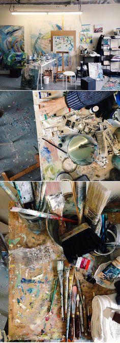 Jenny Vorwaller's studio ( http://ablognamedscout.com/a-studio-visit-with-jenny-vorwaller/ )