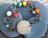 kindred . a hand stamped friendship soul mantra bracelet