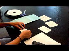 Inspired Brides - DIY Wedding Invitations - Kit Assembly, via YouTube.