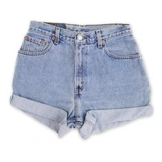 Vintage 90s Levi's Light/Medium Stone Washed Blue Wash High Waisted... ($49) ❤ liked on Polyvore featuring shorts, bottoms, short, pants, cut off, vintage basketball shorts, cut off shorts, high-waisted shorts and cut off jean shorts