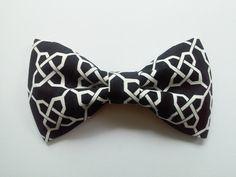 Black and white links hair bow black and white hair by GabeAndJuju