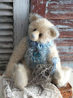 Artist Teddy Bear by by AVintageObsession,