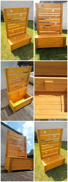 pallet bench and store box