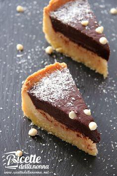 ricetta crostata cocco ganache cioccolato