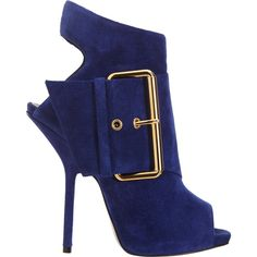 Giuseppe Zanotti Strapped Peep Toe Bootie ($1,250) found on Polyvore
