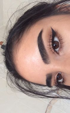 Brows and winged liner