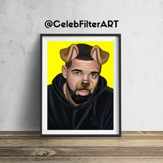 CelebFilterArt donates a portion of all profits to a non-profit funding arts programs in public elementary schools.  This original Drake wall art will be sure to stop people in their tracks... and for a good cause!  Printed to order (not mass produced) using heavyweight professional endura premier paper.  Every piece sold helps foster the creativity, dreams, hopes, and imaginations of our children.  FREE SHIPPING FRAME NOT INCLUDED