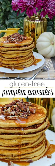 Whether you are entertaining guests this Thanksgiving, or simply looking for a delicious fall brunch that's gluten-free, you will love these pumpkin pancakes with caramel maple syrup. Compare the liveGfree brand at ALDI.USA with your national brand, you won't be sorry. MakeHolidaysHappen ILikeALDI AD http://bit.ly/3f85jQw