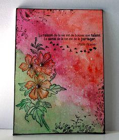 Magenta: Toile avec les Nuances/Canvas with Nuance