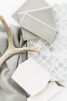 Grey Pinstripe and Pinpoint Textured Subway Tile from the Essentials Collection by Mission Stone & Tile