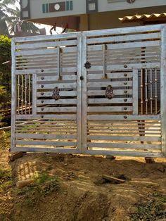Front Gate Design, Main Gate Design, House Gate Design, Box Design, Iron Fence Gate, Engineering Works, Window Grill Design, Front Gates, Iron Doors
