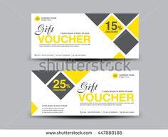 Silver Gift Voucher Vector Template DesignVoucher TemplateCard