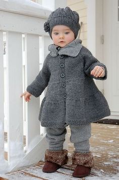 Baby Knitting Patterns Jacket Ravelry: suvily& Cool Wool x 3 Crochet Baby Dress Pattern, Baby Dress Patterns, Baby Knitting Patterns, Knit Baby Sweaters, Knitted Baby Clothes, Baby Pullover, Baby Cardigan, Baby Outfits, Kids Outfits