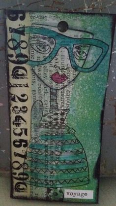 Tag I made stamp by dyan reaveley