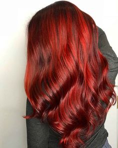 23 Red and Black Hair Color Ideas for Bold Women Spicy Color Idea - Red Hair Dark Red Hair, Hair Color For Black Hair, Cool Hair Color, Pink Hair, Magenta Hair Colors, Ombre Hair Color, Brown Hair Colors, Red Ombre, Red Color