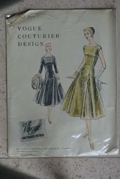 Vogue Couturier Design 871 | 1955 Cocktail Dress
