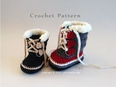 Baby & Children's Sizes - Winter Boots (Sorel Pacs Style) - PDF CROCHET PATTERN