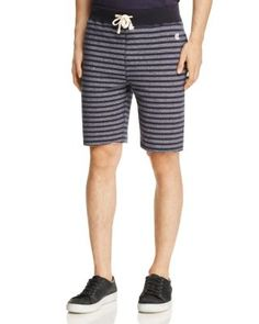 TODD SNYDER CHAMPION STRIPE REGULAR FIT CUTOFF SHORTS. #toddsnyderchampion #cloth #