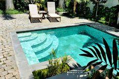 small pool, tile Interior