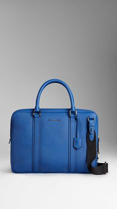 Colour Coated London Leather Crossbody Briefcase | Burberry