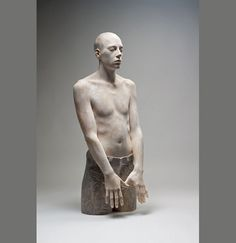 Life-like wooden figure sculptures by Bruno Walpoth