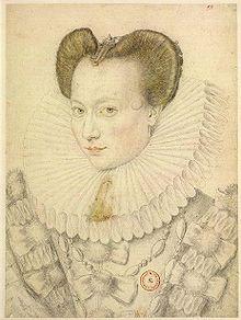 Antoinette de Pons (1560 - 1632). Mistress of Henri IV.