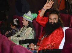 Saint Gurmeet Ram Rahim with Honeypreet Insan during MSG The Messenger music launch