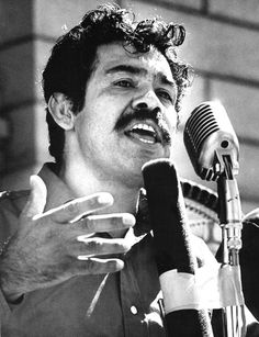 boxer, poet, political activist.  Corky Gonzales inspired me through his commitment to La Lucha. He helped present Plan Espiritual de Aztlan, a written statement demanding self-determination for Chicanos.