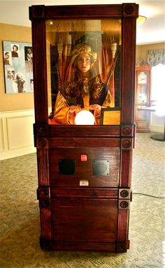 """""""Coin operated"""" fortune teller?"""