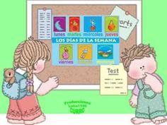Spanish days of the week video on you tube