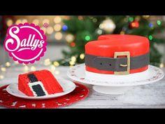 Santas Belt Cake / Weihnachtsmann Bauchtorte / Inside Surprise Oreo Cake - YouTube