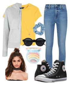 """""""My outfit today 💛💛"""" by mia-santos-i on Polyvore featuring Monki, Paige Denim, Converse, Polo Ralph Lauren, Mudd, Too Faced Cosmetics and Missguided"""
