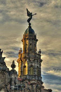 Angel on Great Theater, Havana- amazing architecture and culture.