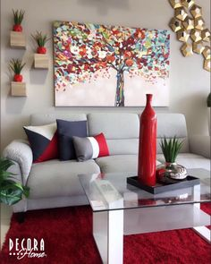 living room sections Red Living Room Decor, Classy Living Room, Colourful Living Room, Living Room Modern, Living Room Designs, Bedroom Decor, Home Decor Furniture, Room Colors, Home Interior Design