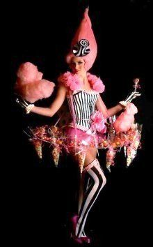 Candy Floss Cart Hire and weird and wonderful usherettes to serve your guests. Contact us to discuss costumes. Candy Girls, Candy Costumes, Cool Costumes, Amazing Costumes, Christmas Costumes, Halloween Costumes, Costume Original, Halloween Karneval, Dark Circus