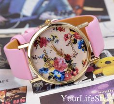 Origina Floral Watch, Women Watches,Pink from yourlifestyle by DaWanda.com