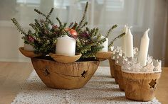 Keramika u Lavender: keramika-adventní Advent Wreath, Decorative Bowls, Lanterns, Planter Pots, Pottery, Candles, Christmas, Home Decor, Handmade Pottery