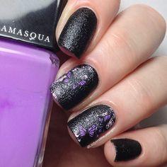 Pancreatic cancer awareness nails