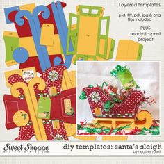 DIY Printable Templates: Santa's Sleigh by Heather Roselli