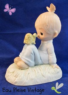 Precious Moments PM Love Is Kind 1977 Enesco by EauPleineVintage