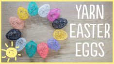 These yarn eggs are the perfect DIY Easter decor and I can't stop making them!! Come join in my obsession! Don't forget to subscribe for new vids every M-W-F...