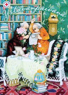 Про финку Inge Löök, «Весёлых бабушек» и о радости в жизни - Как прекрасен этот мир! — ЖЖ Funny Nurse Quotes, Nurse Humor, Funny Christmas Cards, Christmas Humor, Happy Pictures, Cute Pictures, Marriage Humor, Nursing Memes, Funny Nursing