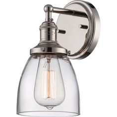 """Nuvo Vintage 1-Light 5"""" Wall Sconce - Overstock Shopping - Top Rated Nuvo Lighting Sconces & Vanities"""